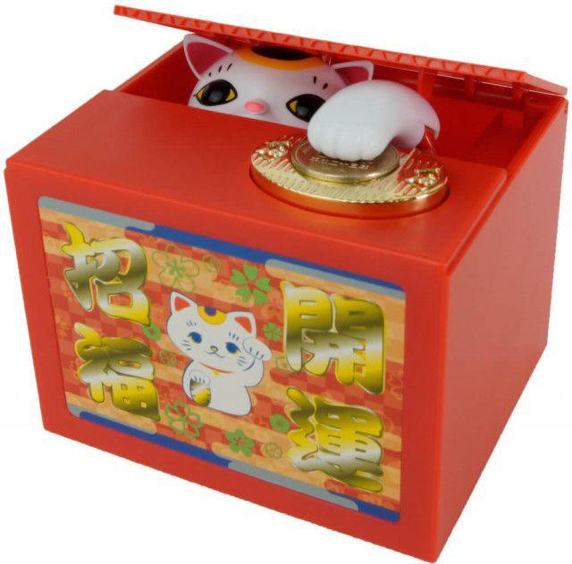 ネコに威嚇されることもある…人気の貯金箱「いたずらBANK」から招き猫バージョンが登場