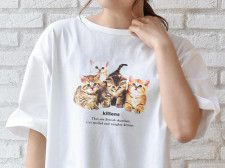 今年は猫デザインのTシャツが豊富!ブルーブルーエが全国180店舗で動物柄のアイテムを発売