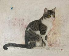 ねこの毛一本一本までリアルに描写、猫を愛する画家・市来功成さんの絵画展が6/16から開催