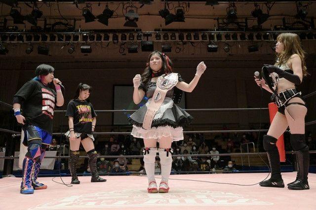【東京女子】プリンセスタッグ王座奪取のNEO美威獅鬼軍に舞海魅星&鈴芽が挑戦表明!「散々やられてきたけど、あなたたちを倒して、もっともっと進化していきます」