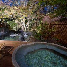 箱根らしい静けさに包まれた「円かの杜」の露天風呂