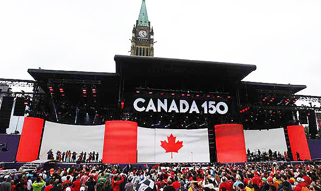 首都オタワ「カナダデー」=カナダ建国150周年