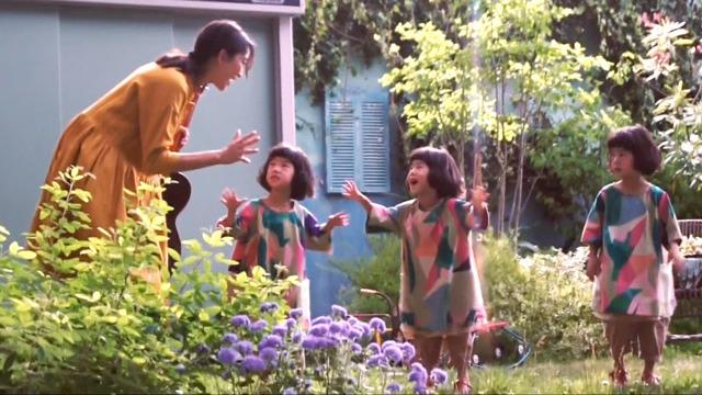 杏、三つ子ちゃんと大はしゃぎ!