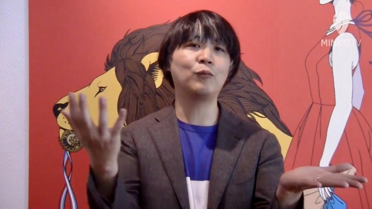 大阪芸大スカイキャンパスでイラストレーター中村佑介展