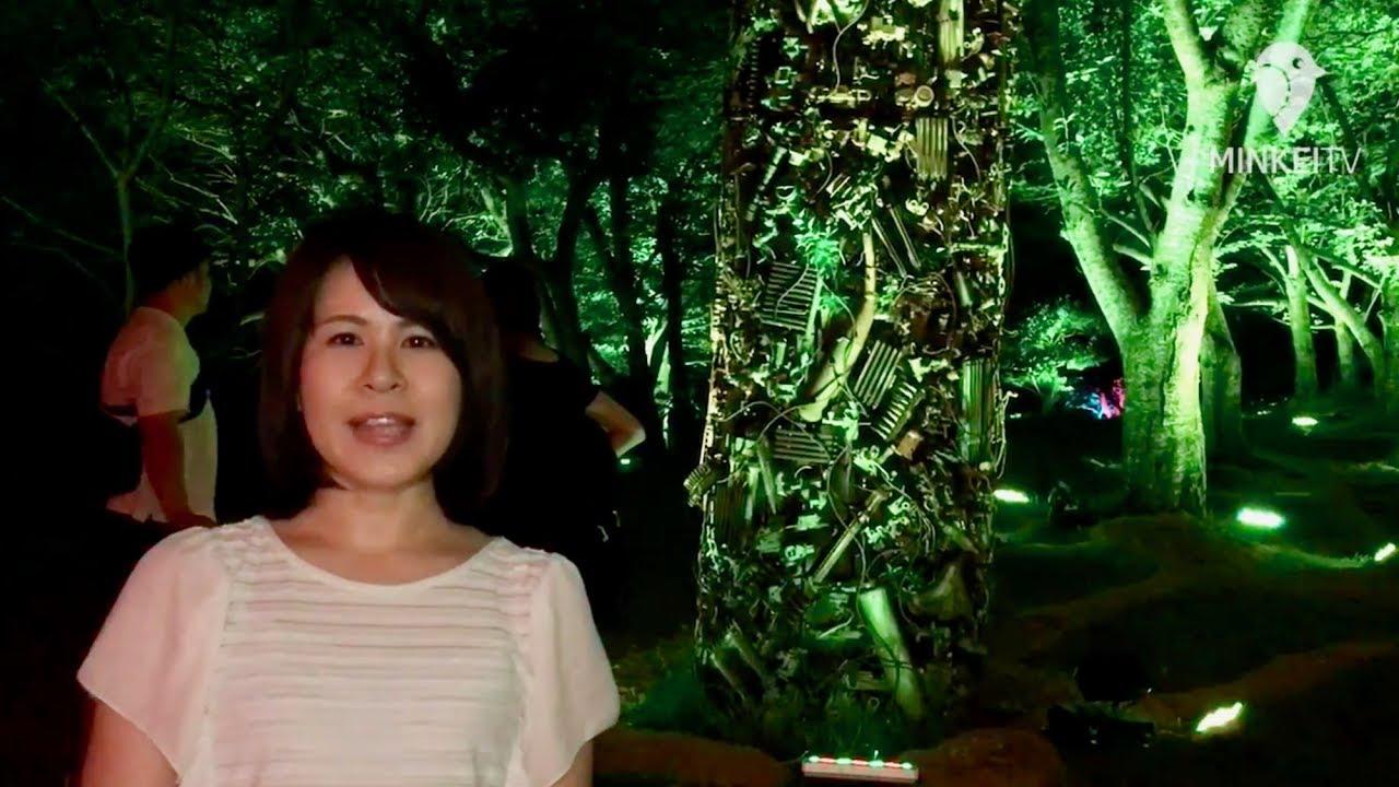 チームラボの「呼応する森と彫刻」 宇部ときわ公園で開幕