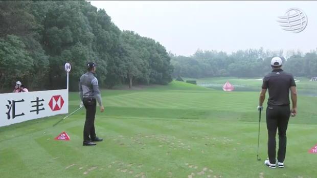 ステンソンがティーショットをピンそば1メートル以内につけてバーディ! 【WGC-HSBCチャンピオンズ 最終日】