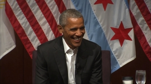シカゴ大学パネル討論会に参加、オバマ米前大統領