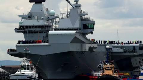 英国が南シナ海は空母2隻を派遣へ、背景に「EU離脱」(字幕・27日)