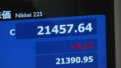 株価14日連続上昇、56年9か月ぶり最長記録に並ぶ