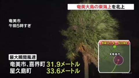 超大型の台風21号、奄美大島の東海上を北上