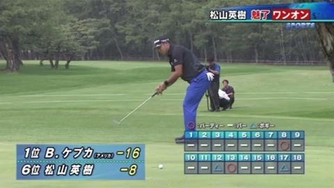 男子ゴルフ・松山英樹選手、6位に後退