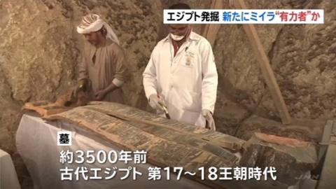 エジプトで新たにミイラ発見、古代の有力者か
