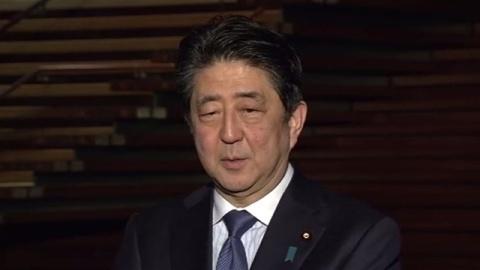 """安倍首相の「今年の漢字」は""""挑"""""""