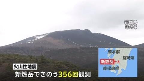 新燃岳も火山活動活発化、噴火に伴う大きな噴石警戒