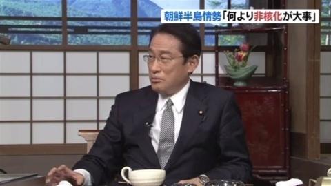岸田政調会長「朝鮮半島の非核化が何よりも大事」