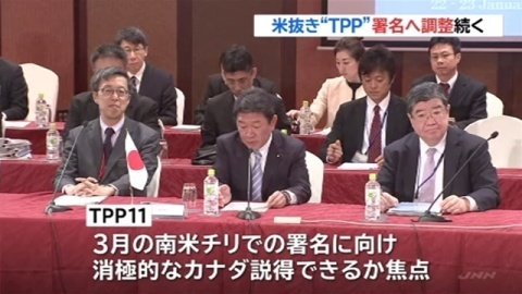 TPP参加11か国、米抜き署名へ調整続く