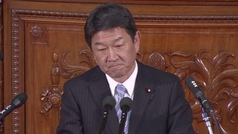 通常国会召集、茂木経済再生担当相が経済演説