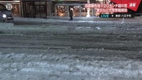 首都圏各地で20センチ超の雪、東京など大雪警報解除