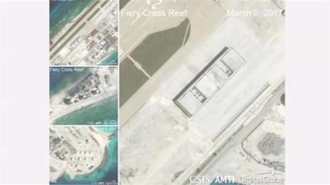 米シンクタンク「中国が南シナ海で軍事施設、ほぼ完成」