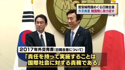 外交青書、慰安婦問題めぐる日韓合意で韓国側に努力促す