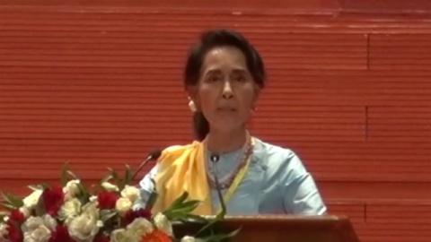 スー・チー国家顧問、停戦協定未署名の武装勢力と会談