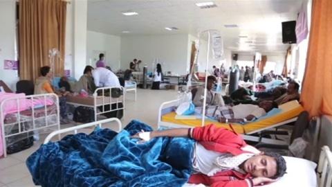 イエメンでコレラ流行、感染疑われる症例20万件超