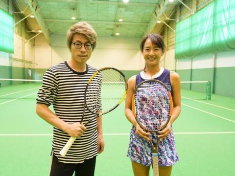 田村淳、美濃越舞の教えでテニスを始める、果たして対戦結果は…